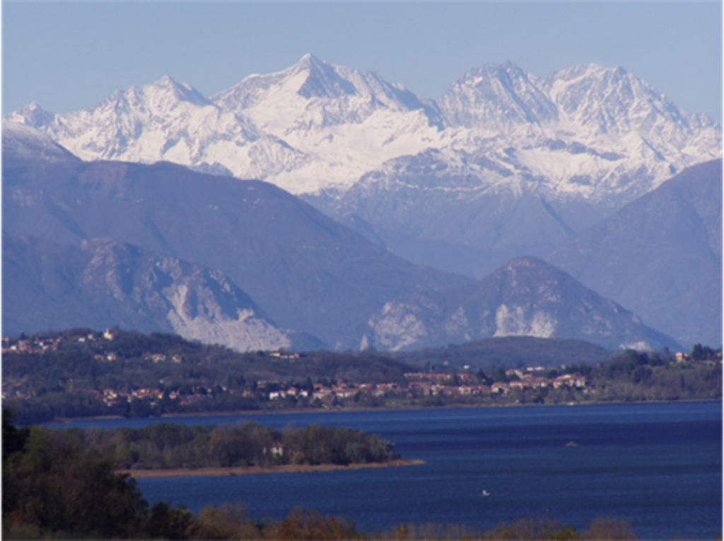 Mount Rosa from Varese Lake